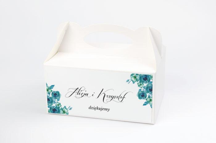 ozdobne-pudelko-na-ciasto-do-zaproszen-wianki-z-kokarda-niebieskie-roze-papier-satynowany