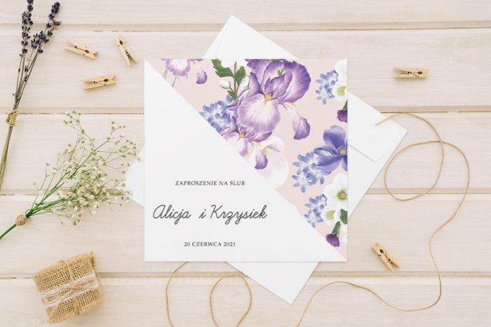 zaproszenie ślubne kwiatowe tła