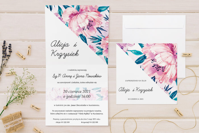 zaproszenie-slubne-kwiatowe-tla-wzor-2-papier-matowy-koperta-bez-koperty