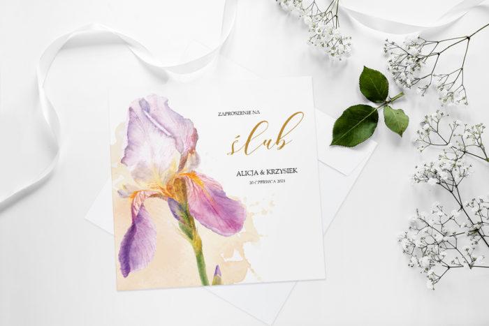 zaproszenie-slubne-namalowane-kwiaty-wzor-11-papier-matowy-koperta-bez-koperty