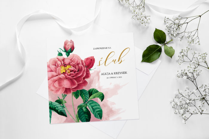 zaproszenie-slubne-namalowane-kwiaty-wzor-18-papier-matowy-koperta-bez-koperty