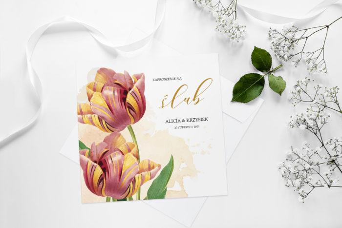 zaproszenie-slubne-namalowane-kwiaty-wzor-21-papier-matowy-koperta-bez-koperty