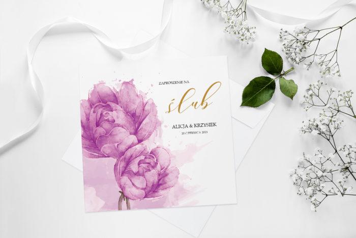 zaproszenie-slubne-namalowane-kwiaty-wzor-9-papier-matowy-koperta-bez-koperty