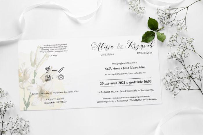 zaproszenie ślubne namalowane kwiaty