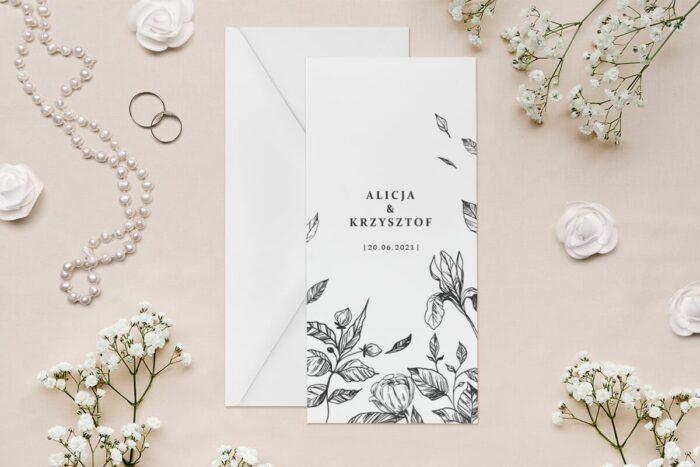 zaproszenie-slubne-rysunkowe-kwiaty-dl-wzor-1-papier--koperta-bez-koperty