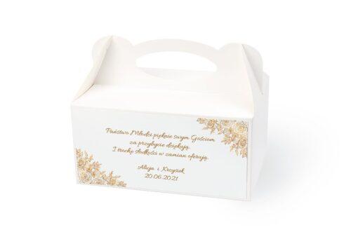 naklejka na pudełko na ciasto wzór 1