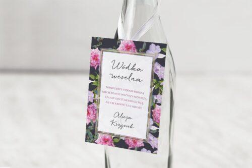 zawieszka na alkohol wzór 10 kwiaty różowe fioletowe