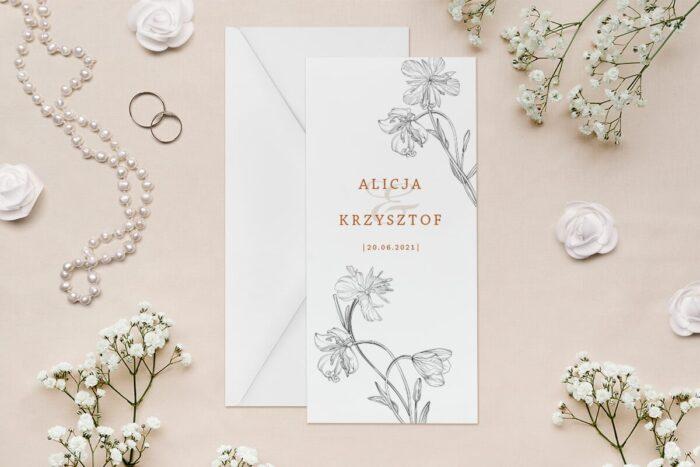 zaproszenie-slubne-rysunkowe-kwiaty-dl-wzor-13-papier--koperta-bez-koperty