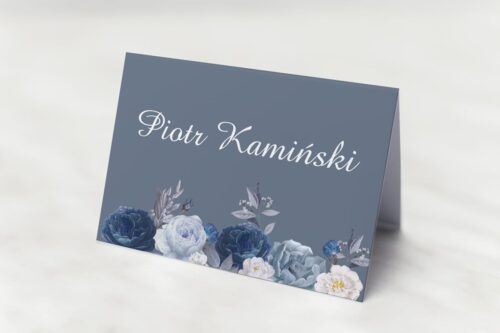 kwiaty z nawami winietka niebieskie kwiaty