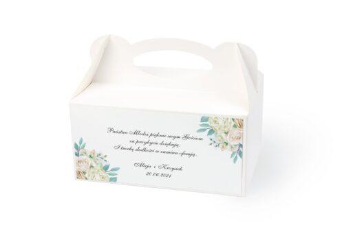 naklejka na pudełko na ciasto wzór 27 kwiaty