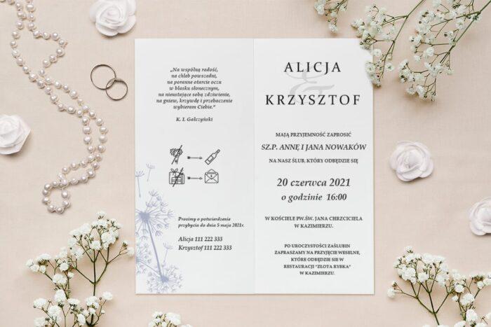 zaproszenie rysunkowe kwiaty
