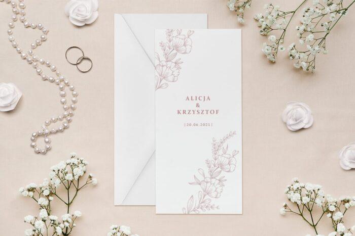 zaproszenie-slubne-rysunkowe-kwiaty-dl-wzor-3-papier--koperta-bez-koperty