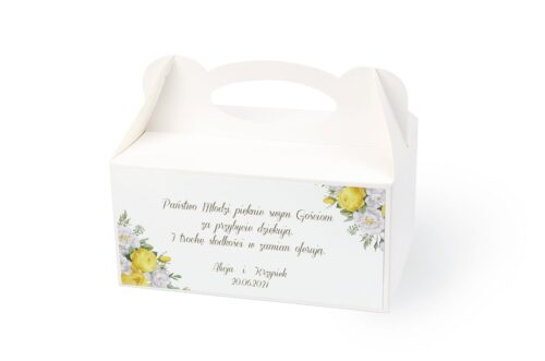 naklejka na pudełko na ciasto wzór 31