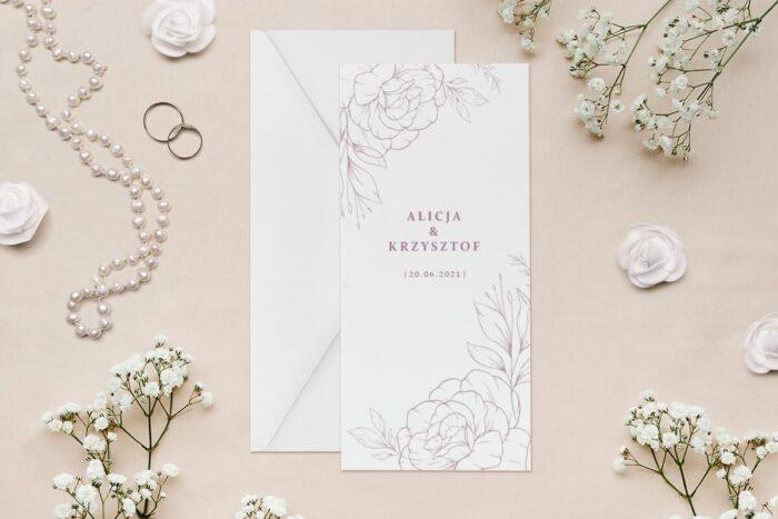 zaproszenie-slubne-rysunkowe-kwiaty-dl-wzor-4-papier--koperta-bez-koperty