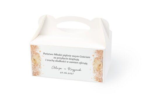 naklejka na pudełko na ciasto wzór 45 pomarańczowe kwiaty