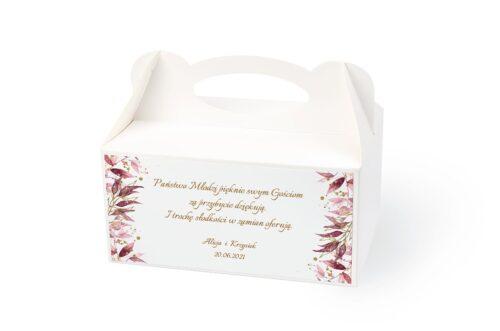 naklejka na pudełko na ciasto wzór 46