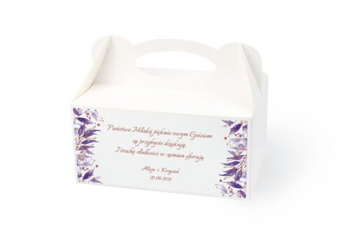naklejka na pudełko na ciasto wzór 47