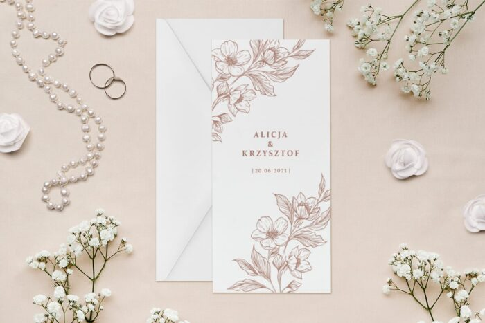 zaproszenie-slubne-rysunkowe-kwiaty-dl-wzor-5-papier--koperta-bez-koperty