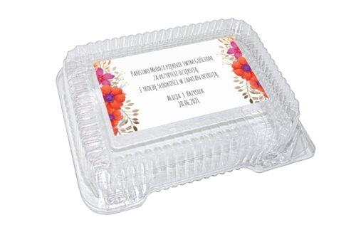 naklejka na pudełko plastikowe wzór 54