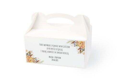 naklejka na pudełko na ciasto wzór 55