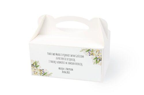 naklejka na pudełko na ciasto wzór 56