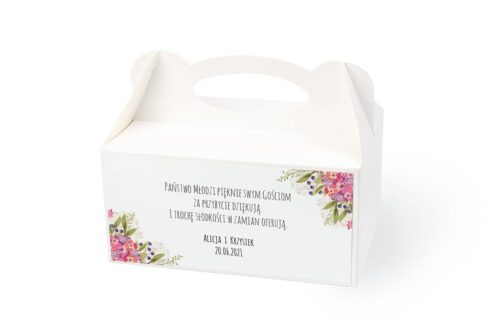 naklejka na pudełko na ciasto wzór 57