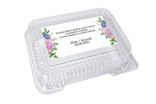 naklejka na pudełko plastikowe wzór 64
