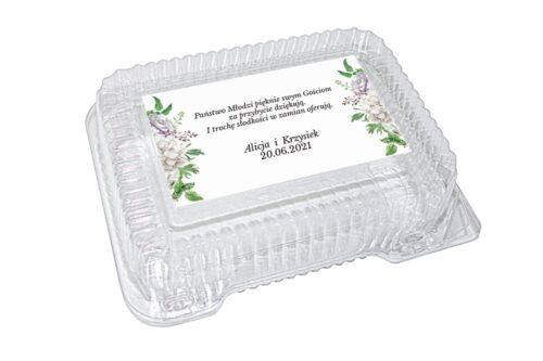 naklejka na pudełko plastikowe wzór 65