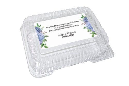 naklejka na pudełko plastikowe wzór 66
