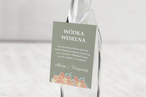 zawieszka na alkohol kwiaty z nawami