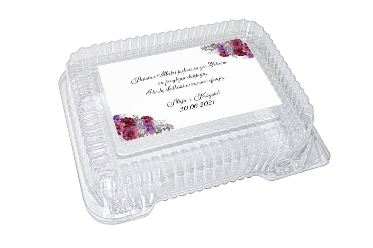 Naklejki na pudełko na ciasto