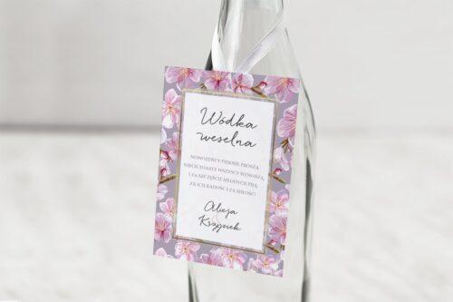 zawieszka na alkohol wzór 8 różowe storczyki