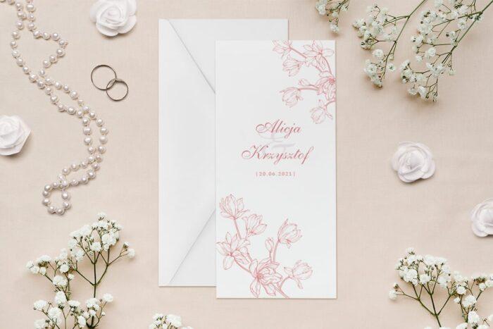 zaproszenie-slubne-rysunkowe-kwiaty-dl-wzor-8-papier--koperta-bez-koperty