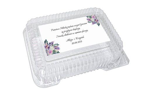 naklejka na pudełko plastikowe wzór 81