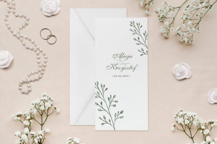zaproszenie-slubne-rysunkowe-kwiaty-dl-wzor-9-papier--koperta-bez-koperty