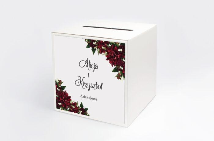 personalizowane-pudelko-na-koperty-ze-zdjeciem-i-sznurkiem-bordowe-dalie-papier-satynowany