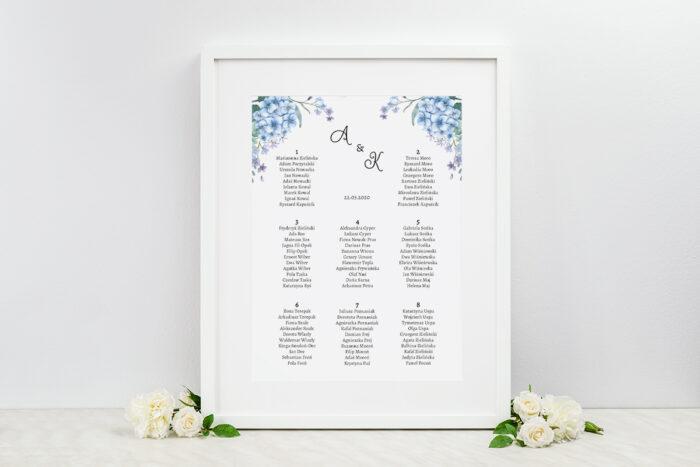 plan-stolow-weselnych-ze-zdjeciem-i-sznurkiem-niebieskie-hortensje-dodatki-ramka-papier-ecruefakturowany