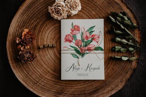 Zaproszenia na ślub - Kwiatowe Gałązki - wzór 8
