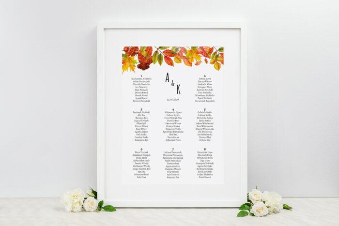 plan-stolow-weselnych-rustykalne-zaproszenie-slubne-kwiaty-jarzebina-dodatki-ramka-papier-ecruefakturowany