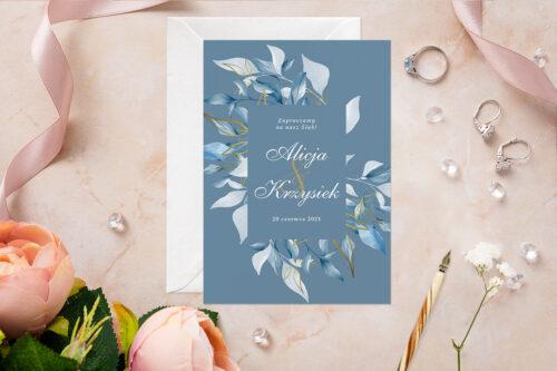 Zaproszenie ślubne - Akwarelowe Bukiety - wzór 11