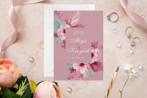 Zaproszenie ślubne - Akwarelowe Bukiety - wzór 13