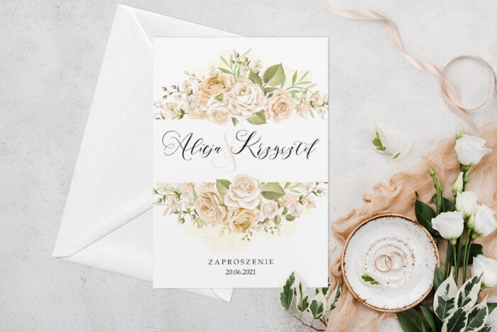 zaproszenie-slubne-jednokartkowe-z-kwiatami-wzor-10-papier-matowy-koperta-bez-koperty