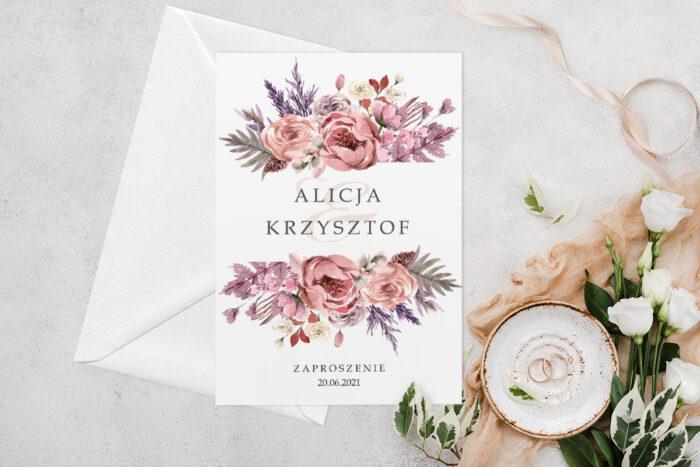 zaproszenie-slubne-jednokartkowe-z-kwiatami-wzor-11-papier-matowy-koperta-bez-koperty
