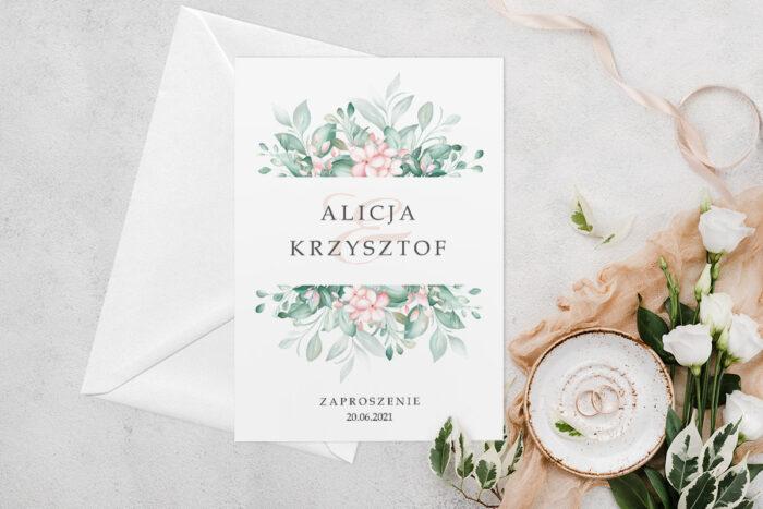 zaproszenie-slubne-jednokartkowe-z-kwiatami-wzor-12-papier-matowy-koperta-bez-koperty