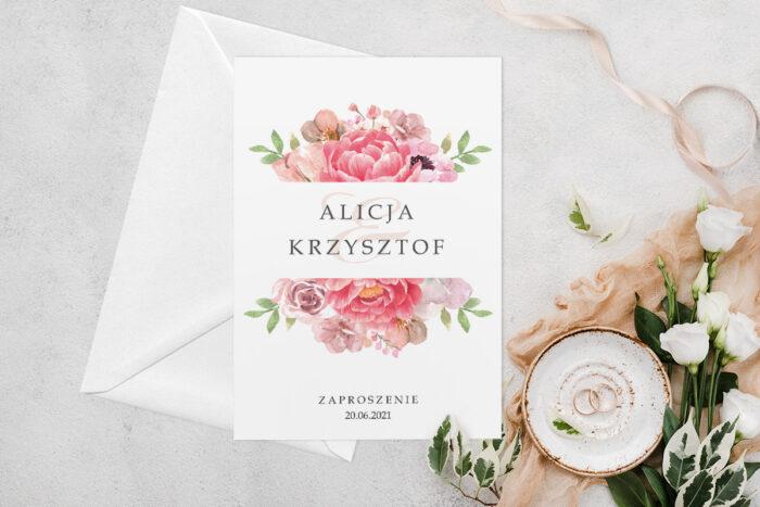 zaproszenie-slubne-jednokartkowe-z-kwiatami-wzor-13-papier-matowy-koperta-bez-koperty