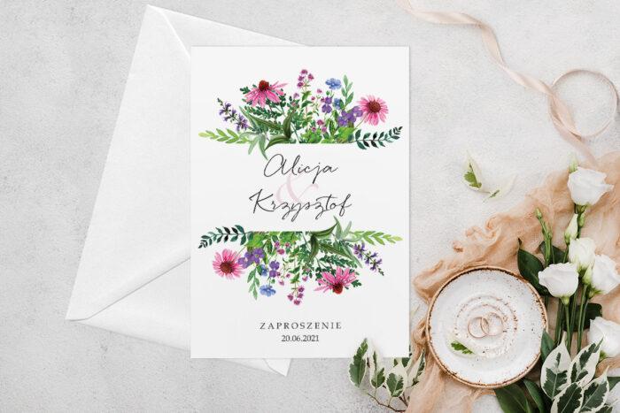 zaproszenie-slubne-jednokartkowe-z-kwiatami-wzor-3-papier-matowy-koperta-bez-koperty
