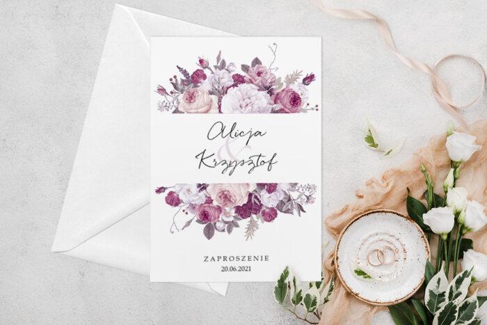 zaproszenie-slubne-jednokartkowe-z-kwiatami-wzor-5-papier-matowy-koperta-bez-koperty