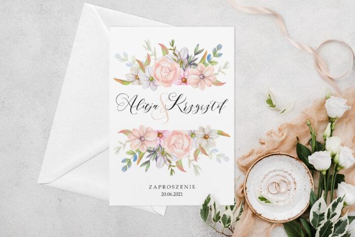 zaproszenie-slubne-jednokartkowe-z-kwiatami-wzor-8-papier-matowy-koperta-bez-koperty