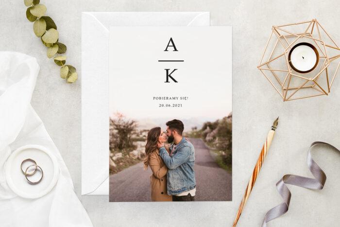 zaproszenie-slubne-ze-zdjeciem-minimalistyczne-wzor-8-papier-matowy-koperta-bez-koperty