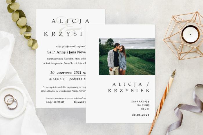 Zaproszenie ślubne ze zdjęciem - wzór 11